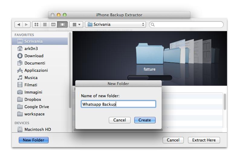 Extract ChatStorage.sqlite on Mac - Step 4