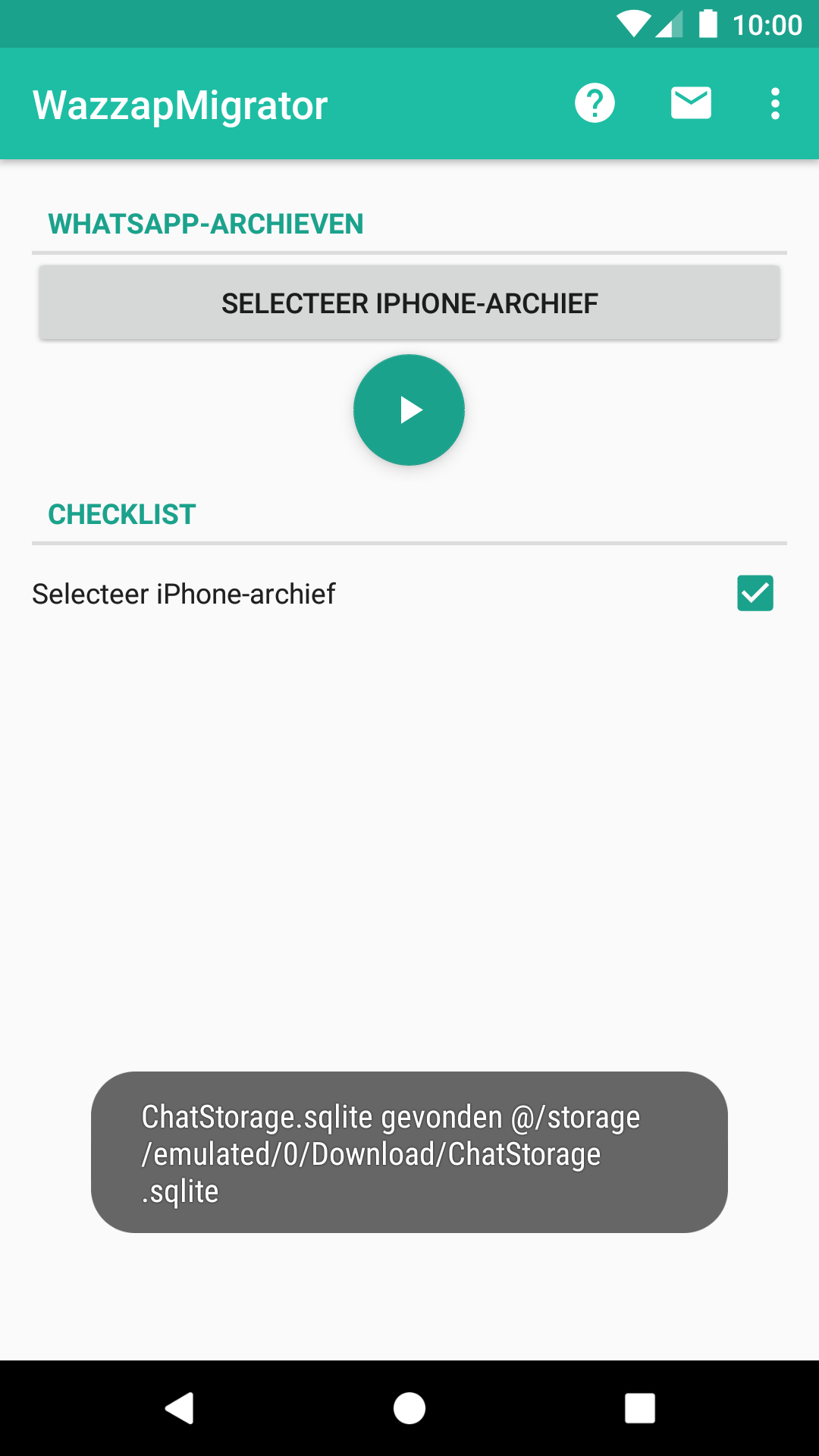 screenshot app progress