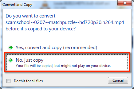 windows do not convert