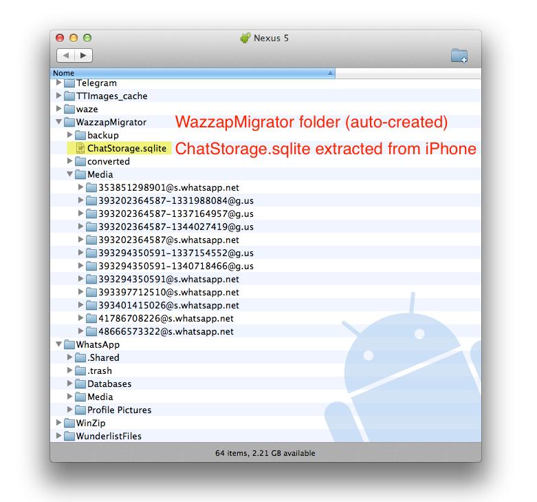 wazzapmigrator folder structure