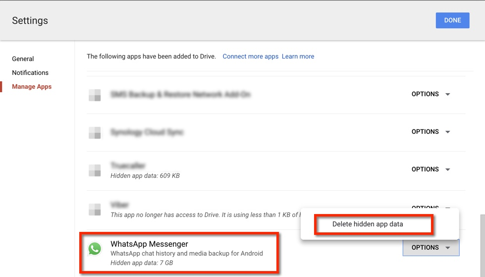 How to disable WhatsApp Google Drive backups